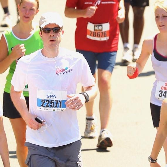 Arnaud's Brussels half marathon