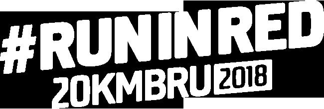 #runinred 20kmbru 2018