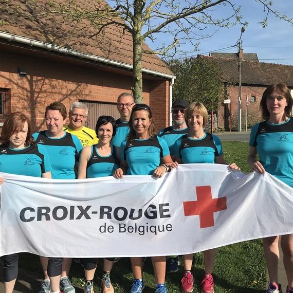 LE JOGGING CLUB DE LUINGNE SOUTIENT LA CROIX ROUGE