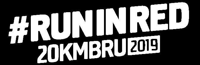 #runinred 20km bru 2019